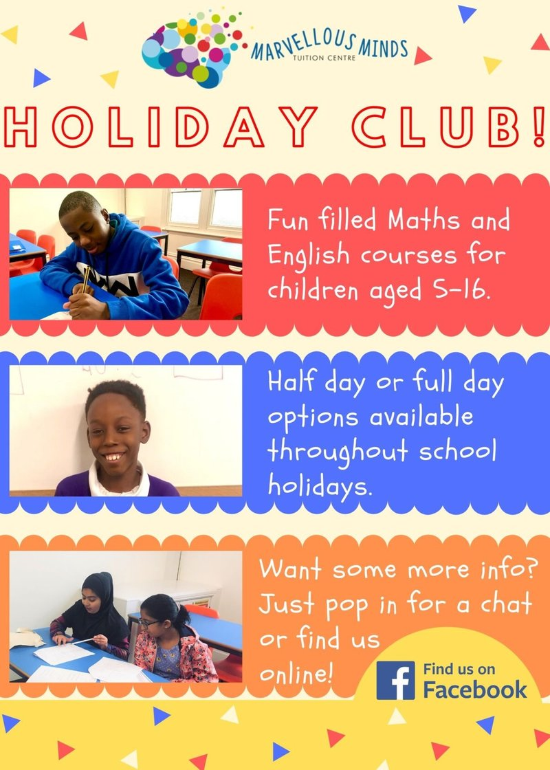 Bedford Holiday Club Tuition